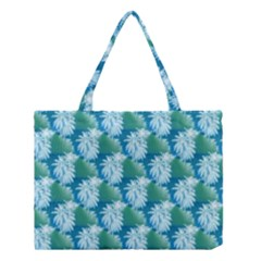 Palm Trees Tropical Beach Coastal Summer Style Small Print Medium Tote Bag by CrypticFragmentsColors
