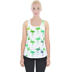Flamingo Pattern Rainbow Colors Piece Up Tank Top by CrypticFragmentsColors
