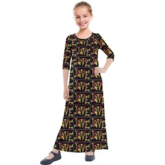 Love Kids  Quarter Sleeve Maxi Dress