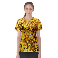 Birch Tree Yellow Leaves Women s Sport Mesh Tee by FunnyCow