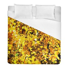 Birch Tree Yellow Leaves Duvet Cover (full/ Double Size) by FunnyCow