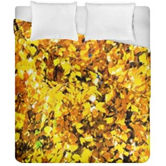 Birch Tree Yellow Leaves Duvet Cover Double Side (california King Size) by FunnyCow