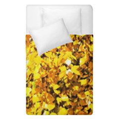 Birch Tree Yellow Leaves Duvet Cover Double Side (single Size) by FunnyCow