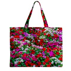 Colorful Petunia Flowers Mini Tote Bag by FunnyCow