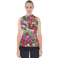 Colorful Petunia Flowers Shell Top by FunnyCow