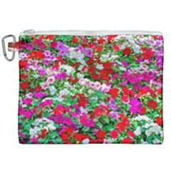 Colorful Petunia Flowers Canvas Cosmetic Bag (xxl) by FunnyCow
