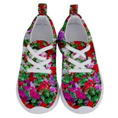 Colorful Petunia Flowers Running Shoes
