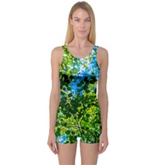 Forest   Strain Towards The Light One Piece Boyleg Swimsuit by FunnyCow