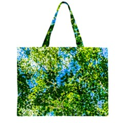 Forest   Strain Towards The Light Zipper Large Tote Bag by FunnyCow