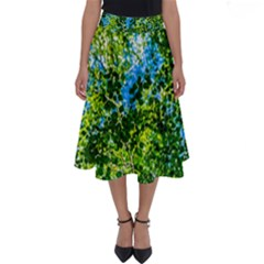 Forest   Strain Towards The Light Perfect Length Midi Skirt by FunnyCow