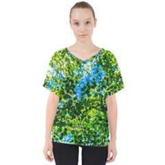 Forest   Strain Towards The Light V Neck Dolman Drape Top by FunnyCow