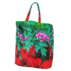 Bleeding Heart Flowers Giant Grocery Tote