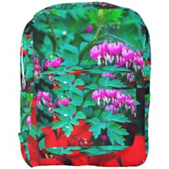 Bleeding Heart Flowers Full Print Backpack by FunnyCow