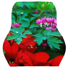 Bleeding Heart Flowers Car Seat Back Cushion  by FunnyCow