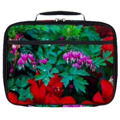 Bleeding Heart Flowers Full Print Lunch Bag by FunnyCow