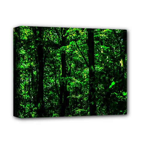 Emerald Forest Deluxe Canvas 14  X 11  by FunnyCow