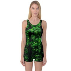 Emerald Forest One Piece Boyleg Swimsuit by FunnyCow