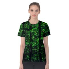 Emerald Forest Women s Cotton Tee by FunnyCow