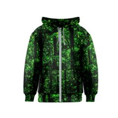 Emerald Forest Kids  Zipper Hoodie by FunnyCow