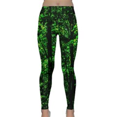 Emerald Forest Classic Yoga Leggings by FunnyCow