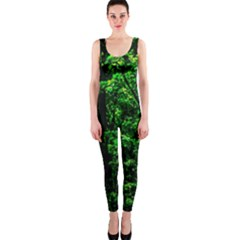 Emerald Forest One Piece Catsuit by FunnyCow