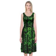 Emerald Forest Midi Sleeveless Dress by FunnyCow