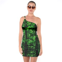 Emerald Forest One Soulder Bodycon Dress by FunnyCow