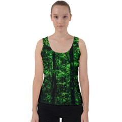 Emerald Forest Velvet Tank Top by FunnyCow