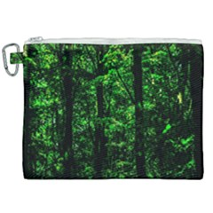 Emerald Forest Canvas Cosmetic Bag (xxl) by FunnyCow