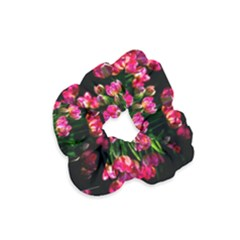 Pink Tulips Dark Background Velvet Scrunchie by FunnyCow