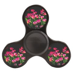 Pink Tulips Dark Background Finger Spinner by FunnyCow