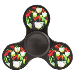 White And Red Sunlit Tulips Finger Spinner by FunnyCow