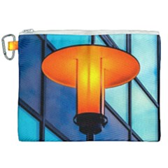Orange Light Canvas Cosmetic Bag (xxl) by FunnyCow