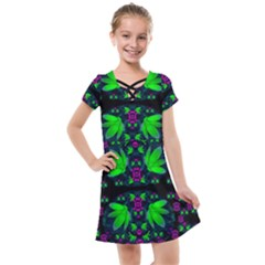 Fantasy Flowers In Moonlight Serenades Kids  Cross Web Dress