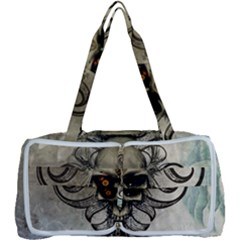 Awesome Creepy Skull With  Wings Multi Function Bag