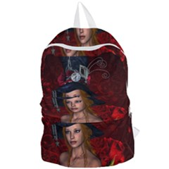 Beautiful Fantasy Women With Floral Elements Foldable Lightweight Backpack by FantasyWorld7