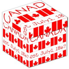 Canada Day Maple Leaf Canadian Flag Pattern Typography  Storage Stool 12   by yoursparklingshop