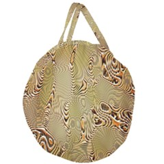 Pattern Abstract Art Giant Round Zipper Tote