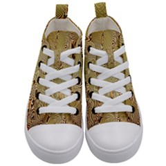 Pattern Abstract Art Kid s Mid Top Canvas Sneakers