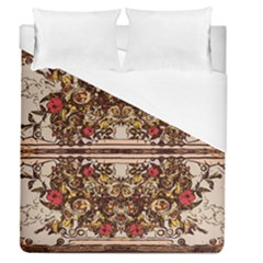 Roses Floral Wallpaper Flower Duvet Cover (queen Size)