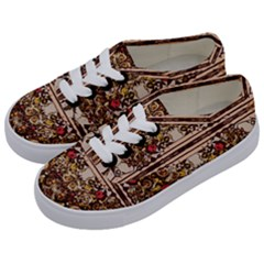 Roses Floral Wallpaper Flower Kids  Classic Low Top Sneakers by Nexatart