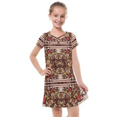 Roses Floral Wallpaper Flower Kids  Cross Web Dress