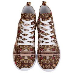 Roses Floral Wallpaper Flower Men s Lightweight High Top Sneakers by Nexatart