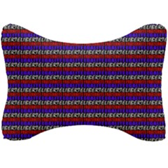 French Revolution Typographic Pattern Design 2 Seat Head Rest Cushion by dflcprints