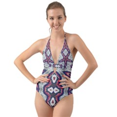 Halter Cut-out One Piece Swimsuit by GhostGear