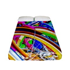 Colorful Bicycles In A Row Fitted Sheet (full/ Double Size)