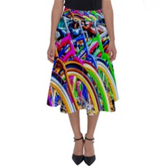 Colorful Bicycles In A Row Perfect Length Midi Skirt by FunnyCow