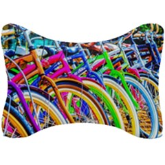 Colorful Bicycles In A Row Seat Head Rest Cushion by FunnyCow