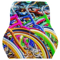 Colorful Bicycles In A Row Car Seat Back Cushion  by FunnyCow