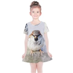 Do Not Mess With Sparrows Kids  Simple Cotton Dress